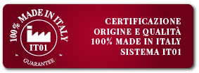 Certificazione 100% Made in Italy  - Sistema IT01